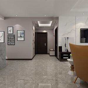 三居室-现代简约-入户门厅-效果图