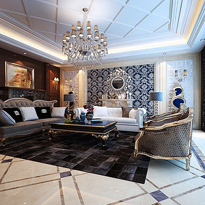 莱安逸辉雅居 后奢华风格 三室二厅 180㎡