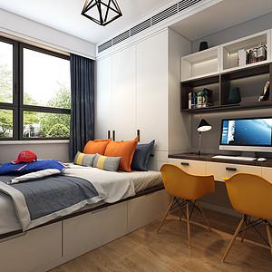 现代风格-次卧-装修效果图