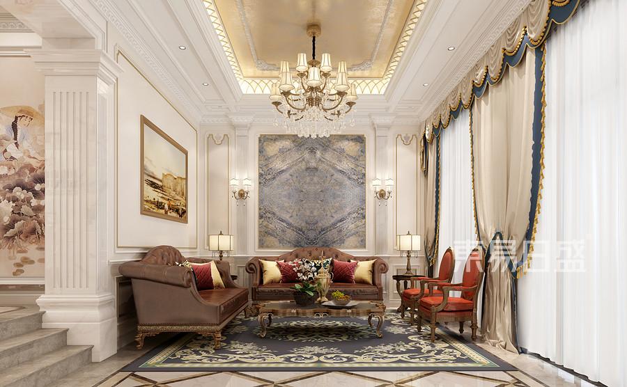 广佛新世界420㎡欧式新古典连排别墅客厅装修效果图