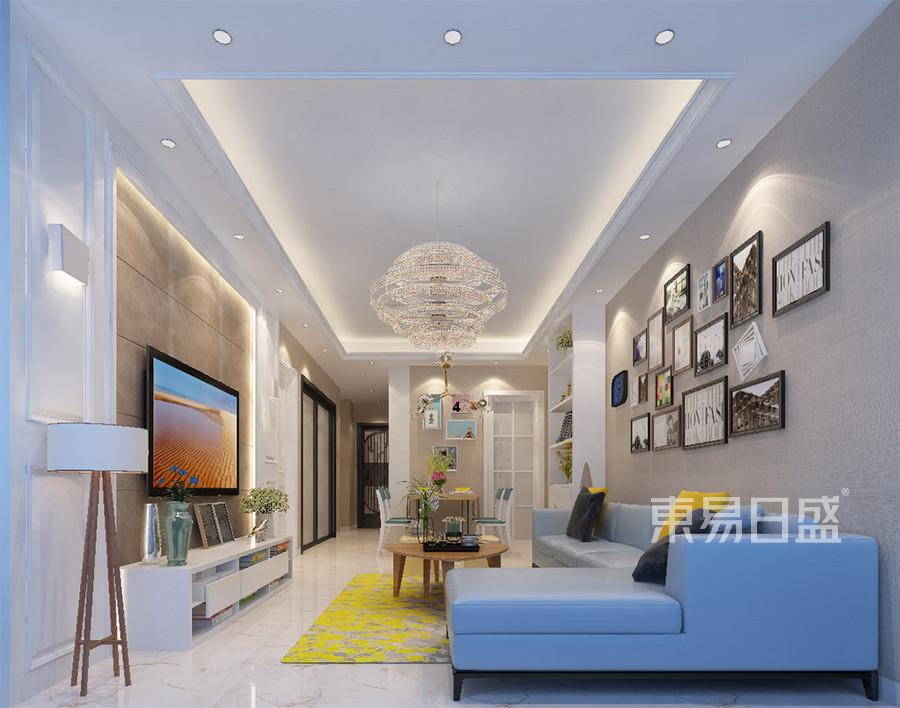 石排利丰中央公园现代简约客厅装修效果图