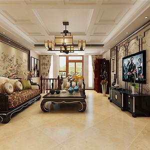 融侨观邸新中式风格客厅装修效果图