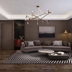 金业提香山 现代时尚装修效果图 四室二厅 142㎡