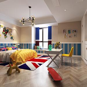 160㎡美式风格儿童房装修效果图