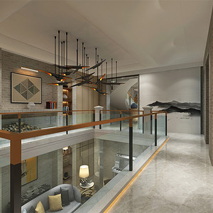 别墅-后现代风格-展示区-效果图