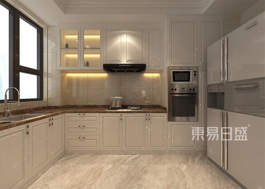 普通住宅-白欧-厨房-效果图