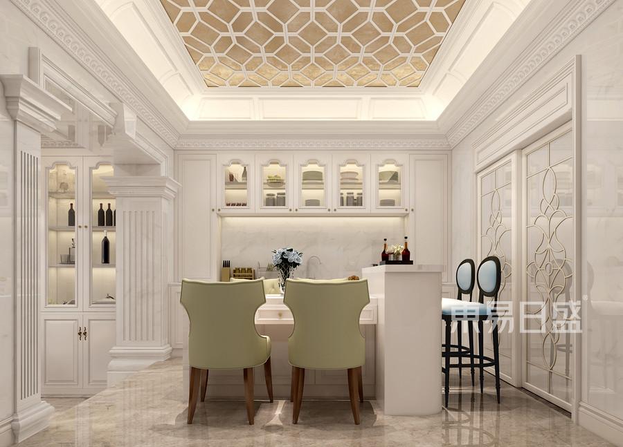 广佛新世界420㎡欧式新古典连排别墅西厨装修效果图