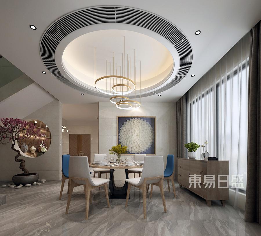 常平富盈加州阳光现代风格餐厅装修效果图