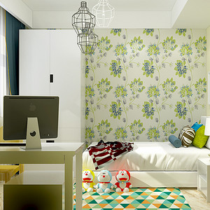 现代简约风格-儿童房-装修效果图