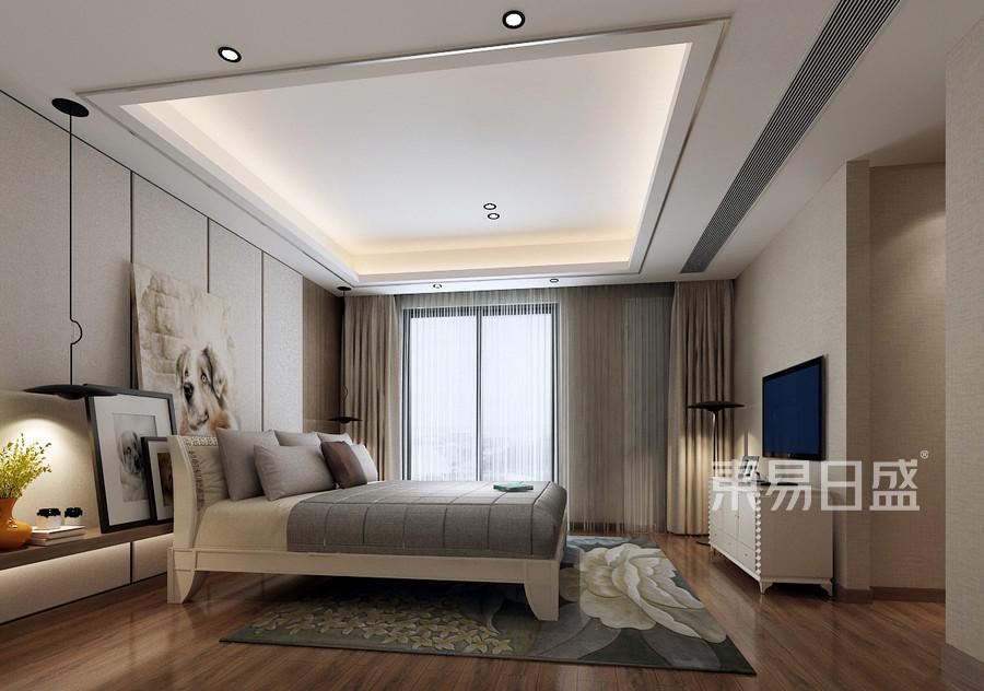 常平富盈加州阳光现代风格卧室装修效果图