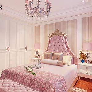 大连美式装修-卧室