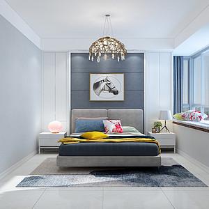 现代简约风格-卧室-装修效果图