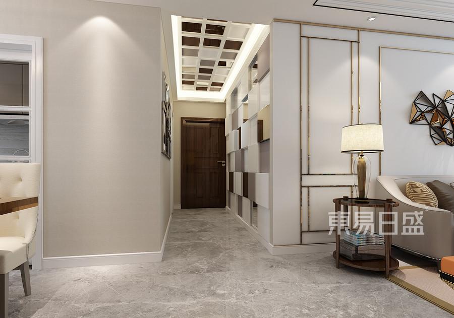 129平米融创中心现代简约风格玄关装修效果图