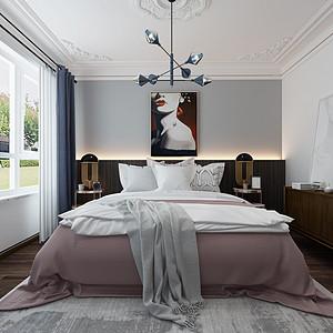 轻奢风格-卧室-装修效果图