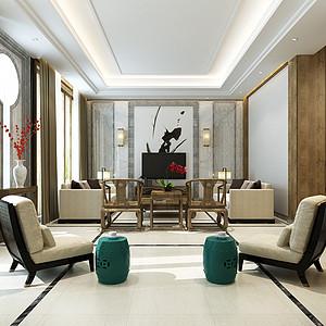 保利400㎡新中式别墅装修效果图