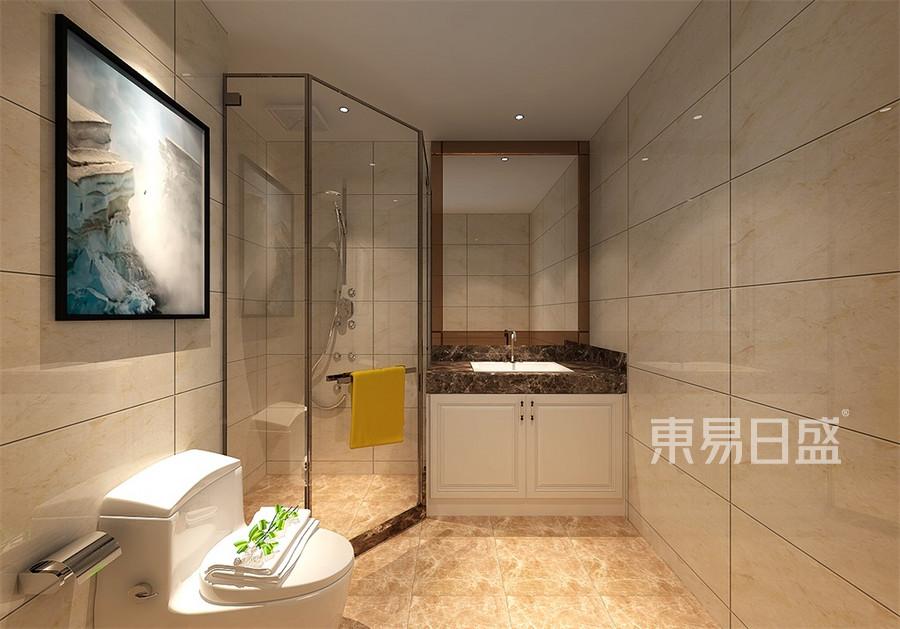 普通住宅-白欧-卫生间-效果图