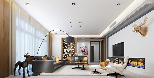 宁波东海府独栋别墅现代简约风格600平方家是心灵的港湾
