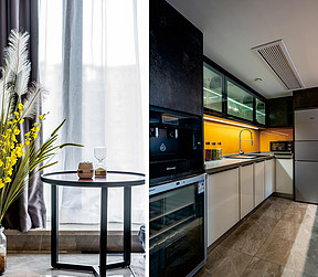 88平两居现代风格案例   厨房装修实景