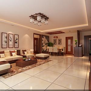 运河湾 新中式 三居室装修