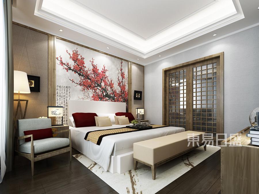 卧室新中式装修实景图
