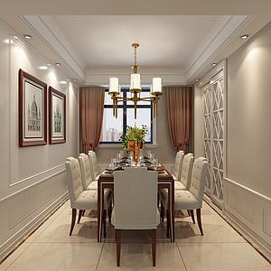 现代美式风格-餐厅-装修效果图
