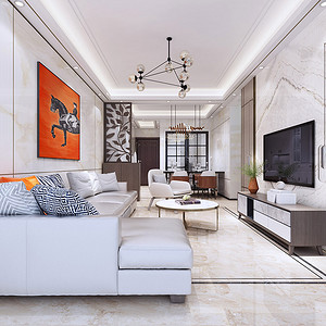 东城鼎峰尚境三房二厅装修效果图-94㎡现代风格装修案例