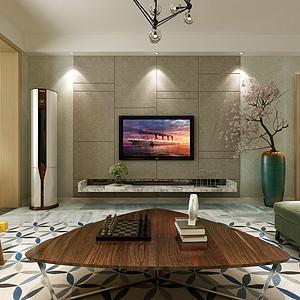 现代简约风格-客厅-装修案例