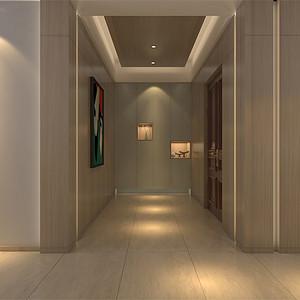 四居室-现代简约-过道-效果图