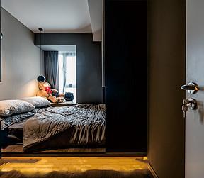 88平两居现代风格案例   次卧装修实景