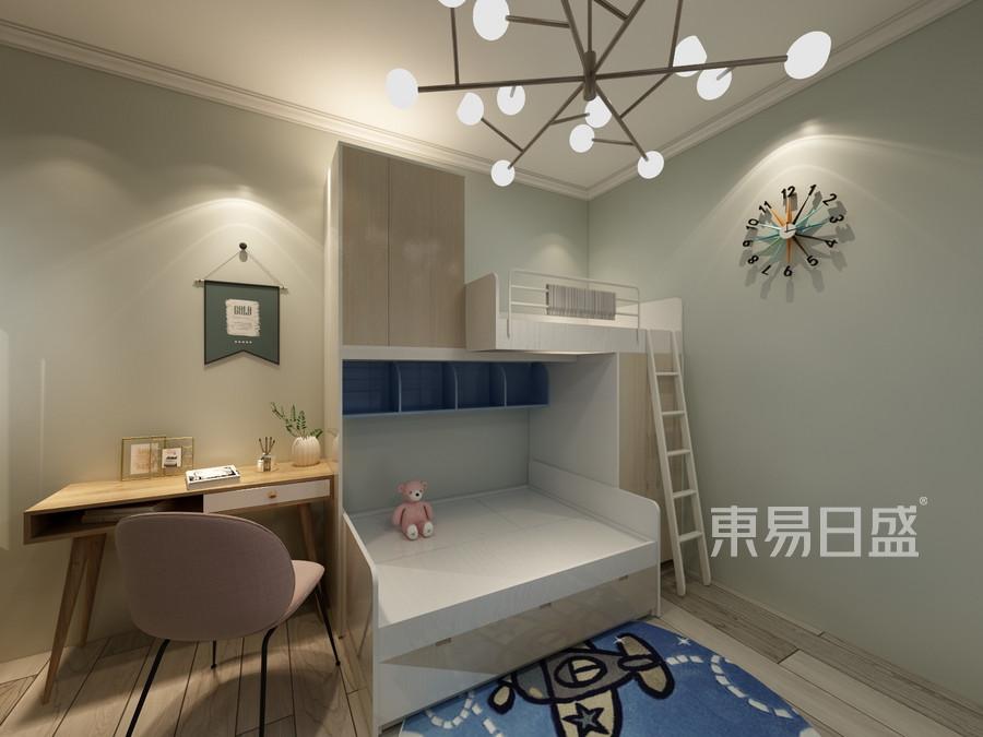 蓝鼎·滨湖假日清华园现代简约风格儿童房装修案例效果图
