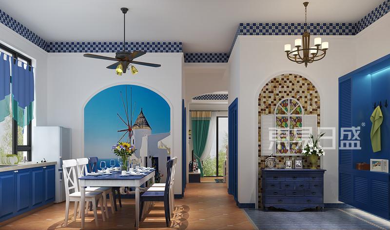 地中海风格餐厅装修图片