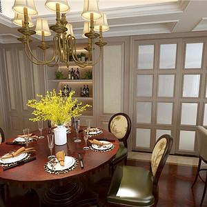 美式风格餐厅:每一件家具每一盏灯