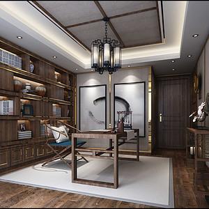 大连新中式装修-书房