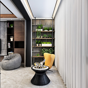 现代简约-客厅阳台