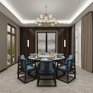 新中式餐厅:以现代的造型搭配明清家具