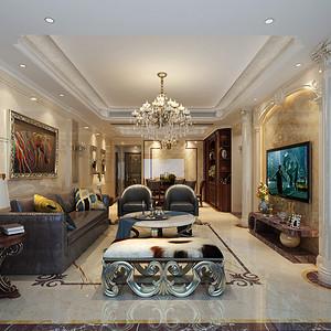 客厅装修效果图 欧式古典装饰设计