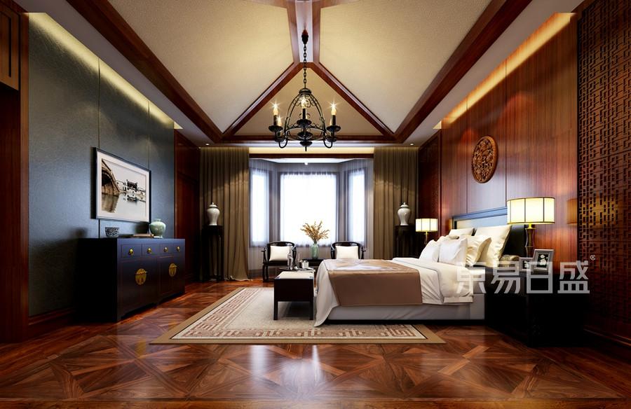 碧桂园1140平米中式风格别墅主卧室