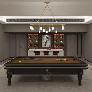 绿城海棠湾246平别墅新中式风格设计装修效果图