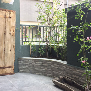 80㎡复式新中式风格入户阳台实景图