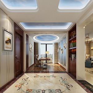 进门玄关装修效果图 欧式古典装饰设计