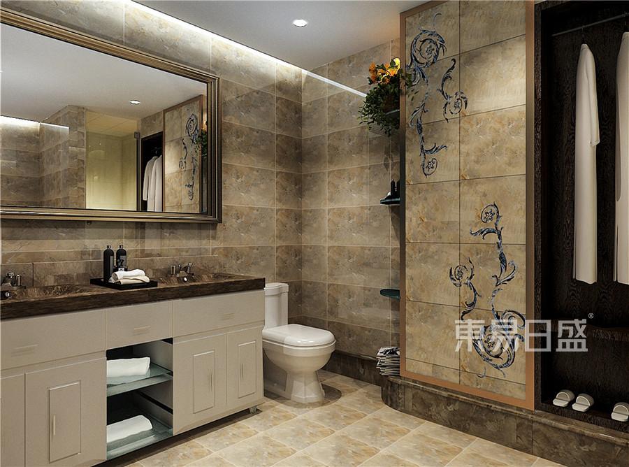 别墅-现代简约-卫生间效果图