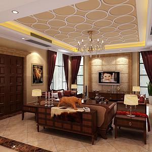 客厅欧式古典装修效果图