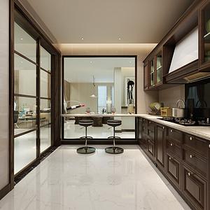 新中式厨房装修效果图 新中式厨房装修图片 新中式厨房装修效果图大