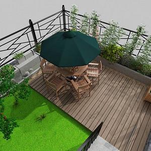 未来假日花园-庭院装修效果图