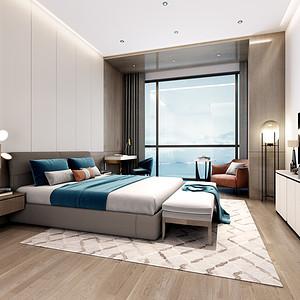 蓝郡广场-卧室装修效果图-复式楼设计