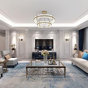 天鹅堡 美式风格装修效果图 五室二厅 220平米