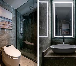 88平两居现代风格案例   卫生间装修实景