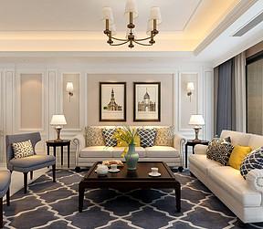 南滨特区现代中式风格客厅装修案例