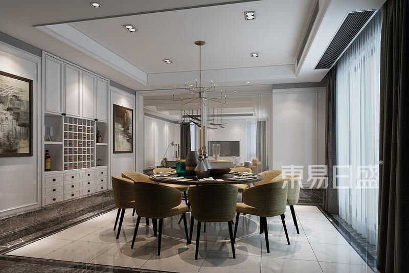 仁和自建房现代简约风格餐厅效果图