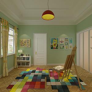 美式风格-儿童房-装修效果图